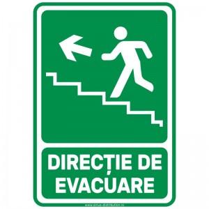 Indicator autocolant - Directie de Evacuare Trepte SUS STANGA - A5