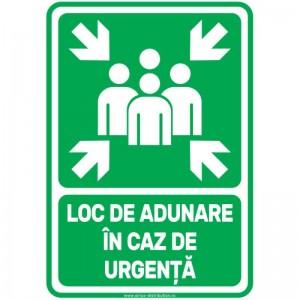 Indicator autocolant - LOC DE ADUNARE IN CAZ DE URGENTA - PVC plastifiat - A4 - 210x297mm (1 buc.)