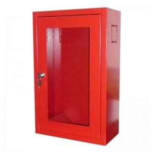 Cutie cu geam pentru stingator - inchidere cu cheie