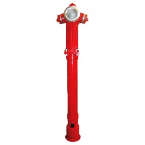 Hidrant suprateran cu protectie la rupere