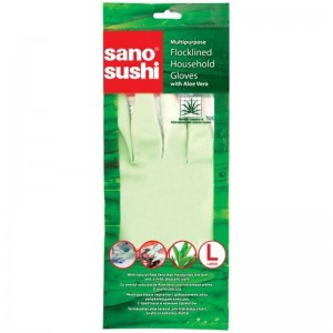 Manusi menaj din cauciuc cu aloe vera Sano Sushi (S / M / L)