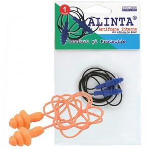 Antifoane Alinta Refolosibile interne cu snur (1 pereche)