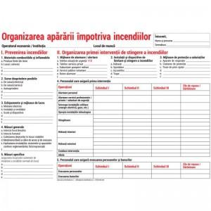Organizarea apararii impotriva incendiilor - nepersonalizat