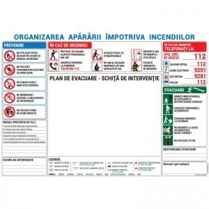 Organizarea Apararii Impotriva Incendiilor - Plan Evacuare - A3
