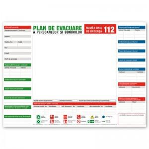 Plan de evacuare a persoanelor si bunurilor in caz de incendiu - nepersonalizat