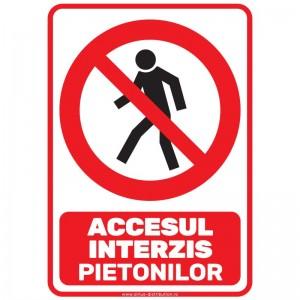 Indicator autocolant - Accesul interzis pietonilor - A5
