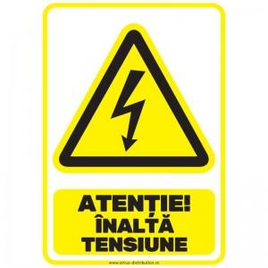 Indicator autocolant - Atentie Inalta Tensiune - A5