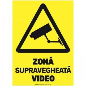 Indicator autocolant - Zona Supravegheata Video - A5