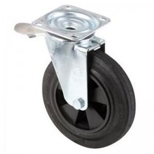 Roata cu ax rotativ pentru containerul de gunoi metalic fara frana