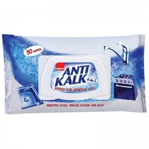 Lavete umede anti calcar si rugina 4 in 1 Sano Anti Kalk Wipes (50buc)