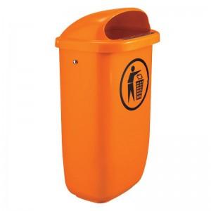 Cos de gunoi stradal cu platbanda pentru stalp - GRD-112 (1 buc)