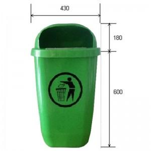 Cos de gunoi stradal cu platbanda pentru stalp - PT-38102 (1 buc)