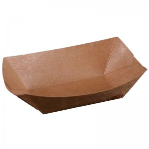 Caserola (mini - platou) din carton kraft cerat
