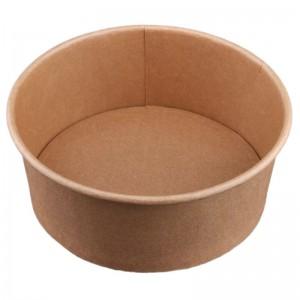 Caserola rotunda fara capac din carton kraft cerat