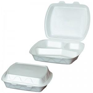 Cutie pentru prînz cu 3 compartimente 230x182x80 mm [100 buc.]