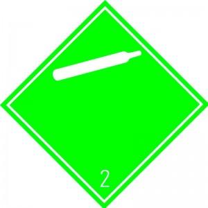 Eticheta ADR autocolanta Pericol Transport gaze neinflamabile netoxice clasa 2.2a (300x300mm)