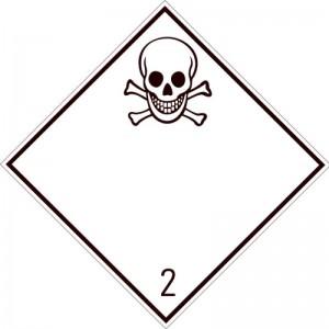 Eticheta ADR autocolanta Pericol Transport gaze toxice clasa 2.3 (300x300mm)