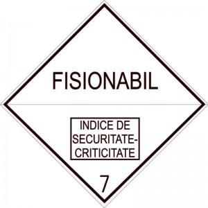 Eticheta ADR autocolanta Pericol Transport materiale fisibile clasa 7E (300x300mm)