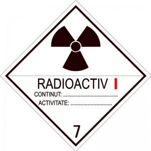 Eticheta ADR autocolanta Pericol Transport materiale radioactive clasa 7A (300x300mm)