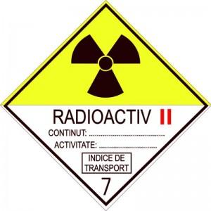Eticheta ADR autocolanta Pericol Transport materiale radioactive clasa 7B (300x300mm)