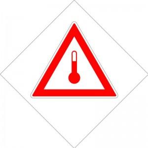 Eticheta ADR autocolanta Pericol Transport substante cu temperatura ridicata (300x300mm)