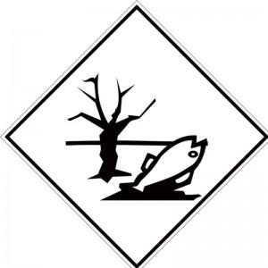 Eticheta ADR autocolanta Pericol Transport substante periculoase pentru mediul inconjurator (300x300mm)