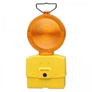 Lampa semnalizare rutiera cu lumina galbena intermitenta