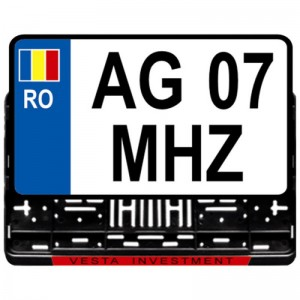 Suport numere inmatriculare auto de teren cu elementi de blocare detasabili