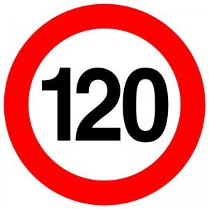 Autocolant - indicator limitare de viteza max 120 km/h - nereflectorizant (1 buc)