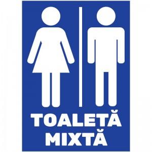 Indicator autocolant - Toaleta Mixta - A5