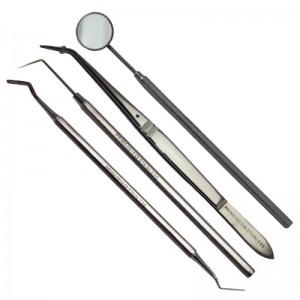 Trusa stomatologica de consultatie otel-inox: maner cu oglinda