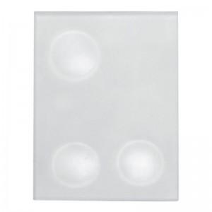 Placuta din sticla mata pentru mixare cu 3 godeuri de 21mm