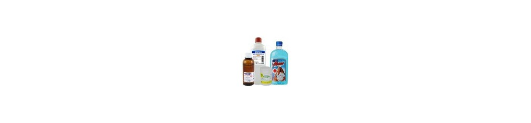 Alcool sanitar, rivanol, apa oxigenata